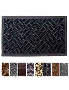 Entrance Door Mat, 24 X 36 Inch Large Low Profile Non Slip Welcome Front Outdoor Rug, Doormat For Entry, Patio by Mibao