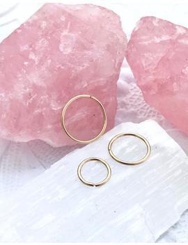 Plain Gold Hoop Earrings, Cartilage Hoop, Gold Helix Earring, 18g 22g 20g Septum Jewelry, 6mm Nose Ring, Snug Septum 8 10 12 4 5mm 16g Hoop by Etsy