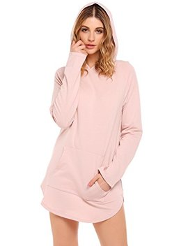 Zeagoo Women's Casual Lightweight Hoodie Sweatshirt Loose Pullover Tunic Top by Zeagoo