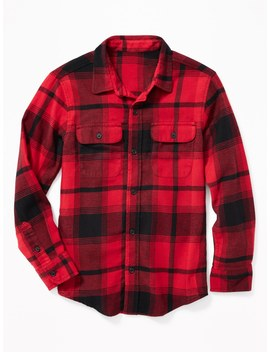 Built In Flex Flannel Pocket Shirt For Boys by Old Navy