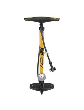 Bv Bicycle Ergonomic Bike Floor Pump With Gauge & Smart Valve Head, 160 Psi, Automatically Reversible Presta And Schrader by Bv