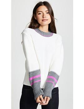 Colorblock Crew Neck Long Sleeve Sweater by Jason Wu Grey