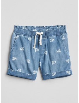 Floral Pull On Denim Shorts by Gap
