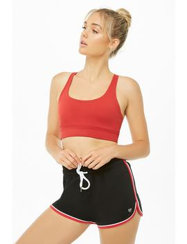 Active Contrast Trim Dolphin Shorts by Forever 21