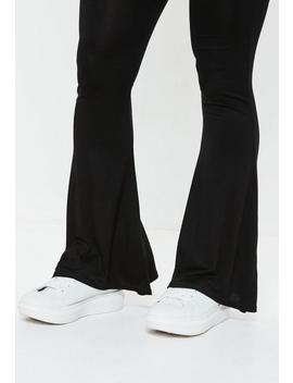Black Jersey Flare Pants by Missguided