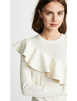 Sterre Ruffle Crew Neck Sweater by Apiece Apart