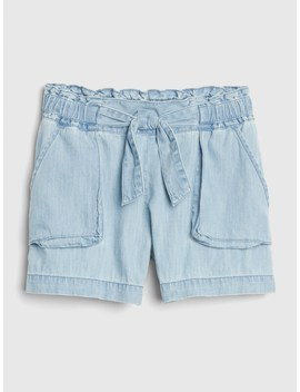 Denim Paperbag Waist Shorts by Gap