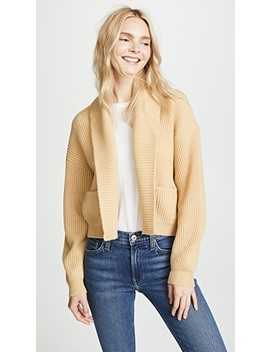 Cropped Ribbed Cardigan by Vince