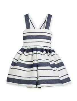 Sophisticated Stripe Cross Back Dress, Size 12 18 Months by Helena