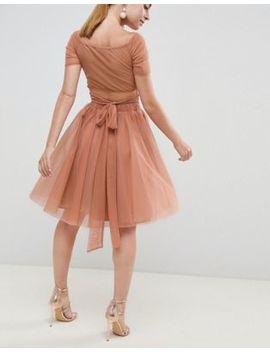 John Zack Petite Tulle Midi Skirt by John Zack Petite