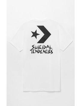 Converse X Suicidal Tendencies Chevron White T Shirt by Pacsun