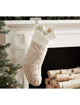 Chunky Roving Knit Stocking by Pottery Barn