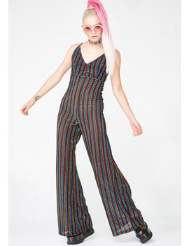 Groovy Daze Striped Jumpsuit by Hot Delicious