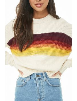 Ribbed Trim Colorblocked Sweater by Forever 21