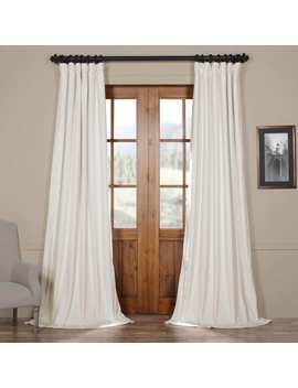Exclusive Fabrics Signature Off White Velvet Blackout Curtain Panel by Exclusive Fabrics