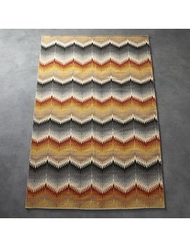 Lambrate Multicolored Chevron Rug by Crate&Barrel
