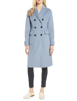 Taylor Double Breasted Wool Coat by Tahari