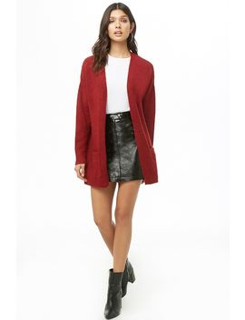 Brushed Open Front Cardigan by Forever 21