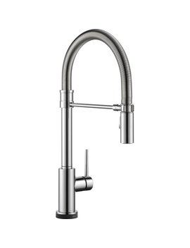 Delta Trinsic Pro Pull Down Touch Single Handle Kitchen Faucet With And Magna Tite® Docking And Touch2 O® Technology & Reviews by Delta