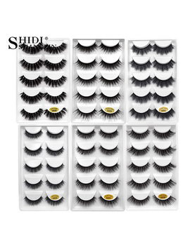 Shidishangpin 1 Box Mink Eyelashes Natural Long 3d Mink Lashes Hand Made False Lashes Plastic Cotton Stalk Makeup False Eyelash  by Shidishangpin