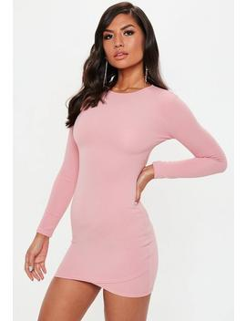 Rose Round Neck Wrap Skirt Dress by Missguided