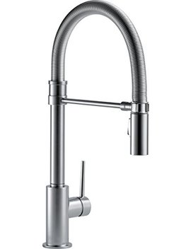 Delta Faucet Trinsic Pro Single Handle Spring Spout Kitchen Sink Faucet With Pull Down Sprayer And Magnetic Docking Spray Head, Arctic Stainless 9659 Ar Dst by Delta Faucet