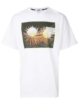 Photographic Print T Shirt by Msgm