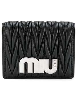 Miu Miumatelassé Bifold Wallethome Women Miu Miu Accessories Wallets & Purses by Miu Miu