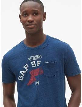 Logo Graphic Indigo Short Sleeve T Shirt by Gap