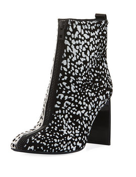 Ellis Cheetah Flocked Suede Booties by Rag & Bone
