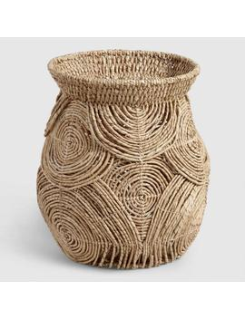 Brown Twisted Rattan Naya Jar Basket by World Market