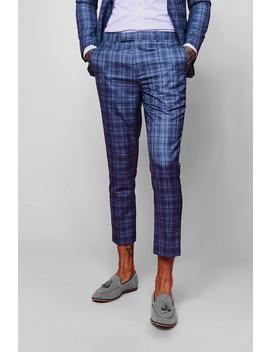 Jaspe Check Skinny Fit Trouser by Boohoo