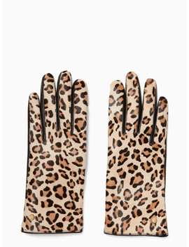 Calf Hair Leather Glove by Kate Spade