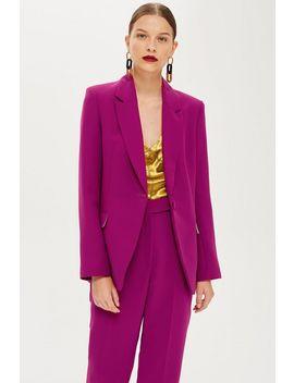 Petite Magenta Suit Jacket by Topshop