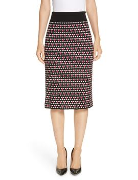 Estane Geo Knit Pencil Skirt by Boss
