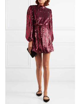 + Laura Jackson Samantha Sequined Crepe Mini Dress by Rixo London