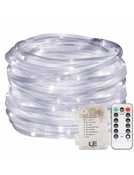 Le 33ft 120 Led Dimmable Rope Lights, Battery Powered, Waterproof, 8 Modes/Timer, Daylight White Outdoor Decorative Light Mood Lighting For Garden Patio Party Christmas Thanksgiving by Lighting Ever