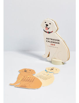 Year Of The Critter 2019 Retriever Calendar by Modcloth