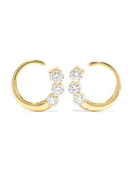 Aria 18 Karat Gold Diamond Earrings by Melissa Kaye