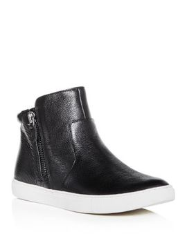 Women's Carter Leather High Top Sneakers by Gentle Souls By Kenneth Cole