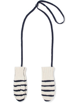 Striped Wool Mittens by Rag & Bone