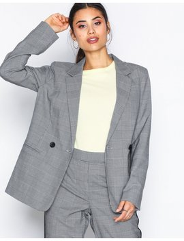 Onl Mimi L/S Check Blazer Tlr by Only