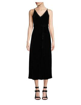 Sleeveless Velvet Midi Length Slip Dress by Frame