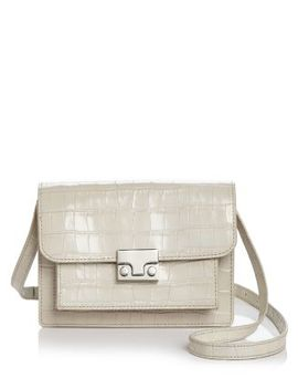 Minimal Rider Small Croc Embossed Leather Satchel by Loeffler Randall