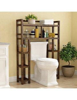 """Charlton Home Corte 34.46"""" W X 48"""" H Wood Bathroom Shelf & Reviews by Charlton Home"""