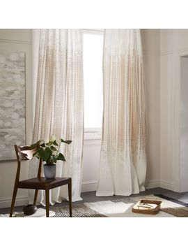 """Echo Print Curtain, Set Of 2, Gold Dust, 48""""X84"""" by West Elm"""