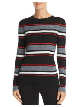 Striped Rib Knit Sweater by Frame