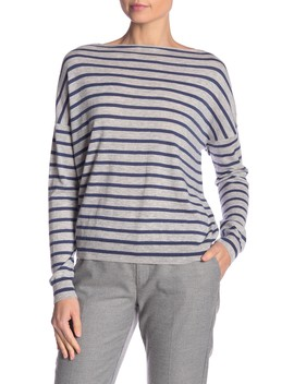 Skinny Striped Wool & Cashmere Pullover by Vince
