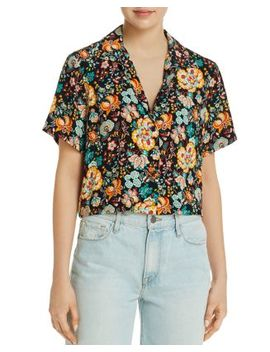 Mini Floral Short Sleeve Shirt by Frame