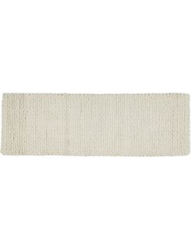 Topknot Natural Wool Runner 2.5'x8' by Crate&Barrel